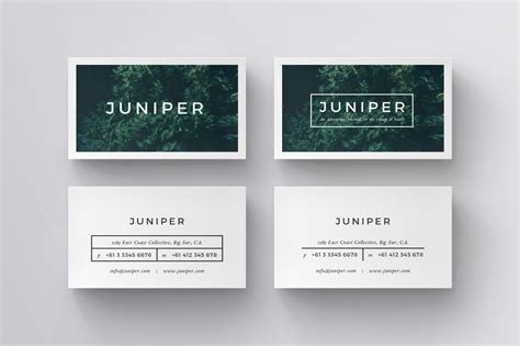 juniper business cards template inspiration cardfaves