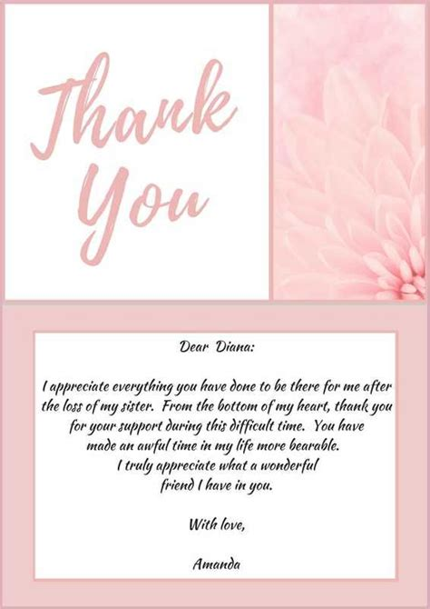 appreciation letter after a wedding 33 best funeral thank you cards bereavement funeral