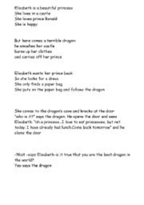 English worksheets: The paper bag princess