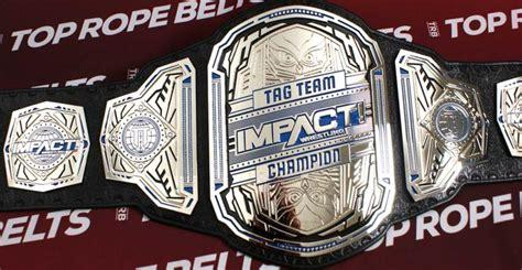 impact wrestling tag team title belts top rope belts