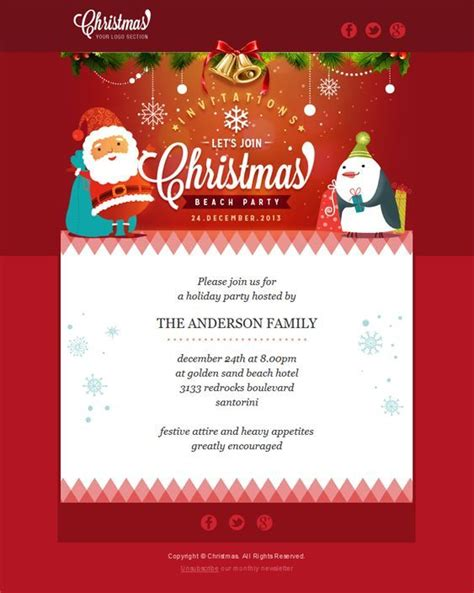 best christmas templates for corporate 22 inspirational html email templates