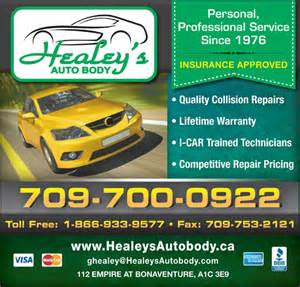 Auto Paint Shop Deals Healey S Auto Shop Ltd 112 Empire Ave St S Nl