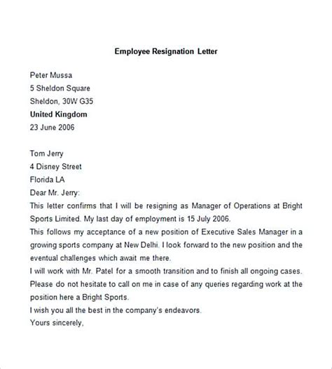 Resignation Letter Viral letter of employment resignation