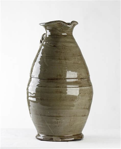 Grey Vase by Athenaeum Country Grey Pitcher Vase Kathy Kuo Home