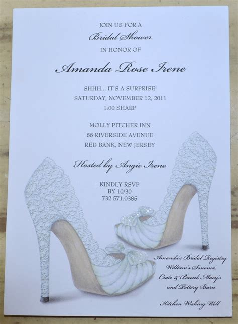 Bridal Shower Invitations by Bridal Shower Invitations Shoe Theme Bridal Shower Bridal