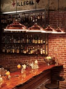 bar lights for home be sure to check out the wood slab used on this bar top