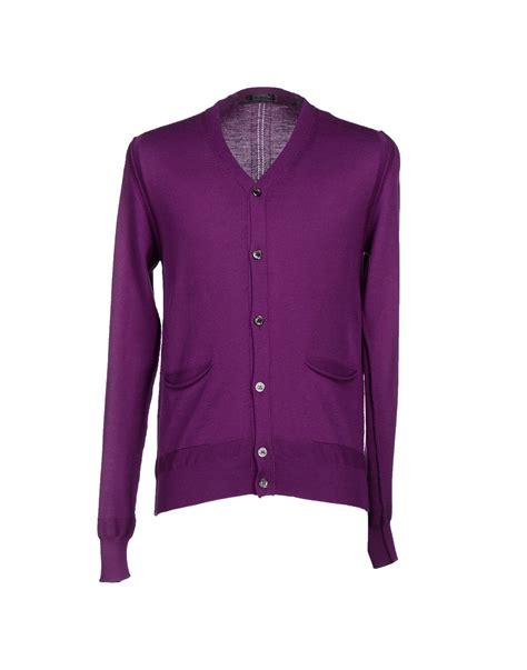 Purple Cardigan 39 masq cardigan in purple for lyst