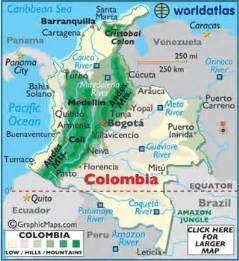 colombia map geography of colombia map of colombia