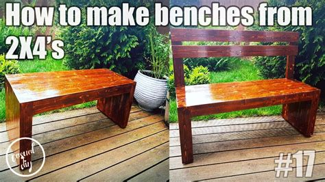 how to make garden bench diy how to make garden benches from 2x4 with back support