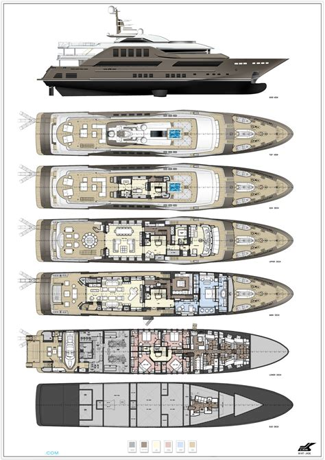 luxury yacht floor plans j ade layout crn motor yacht superyachts com