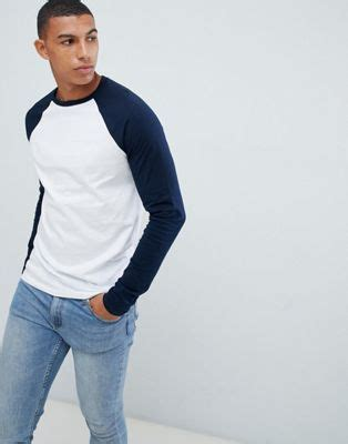 Why Me Raglan asos design asos design sleeve t shirt with crew