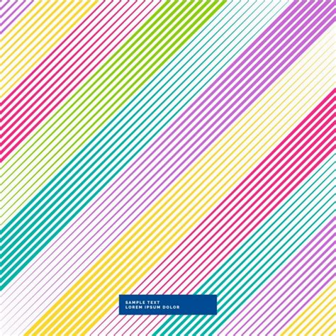 color lines background with color lines vector free