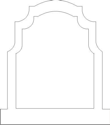 Simple Tombstone 2 Headstone Template Printable
