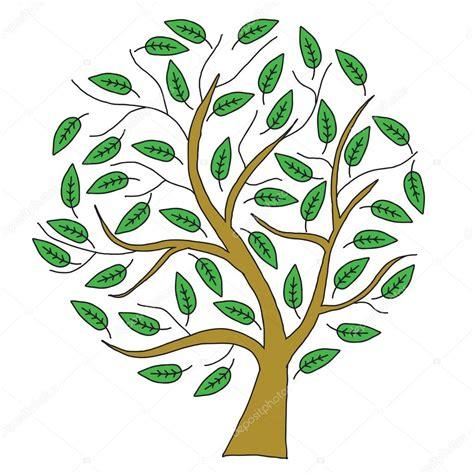 dibujos en hoja semilogaritmica 193 rbol de dibujo marr 243 n con hojas verdes fotos de stock