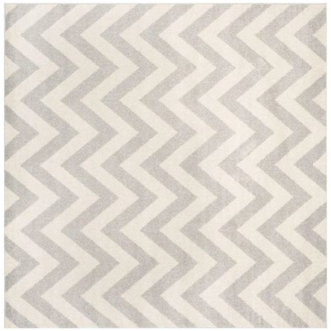 Light Grey Area Rug Safavieh Amherst Light Gray Beige 7 Ft X 7 Ft Indoor Outdoor Square Area Rug Amt419b 7sq The
