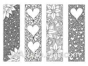 coloring bookmarks zendoodle bookmarks diy zentangle inspired hearts and