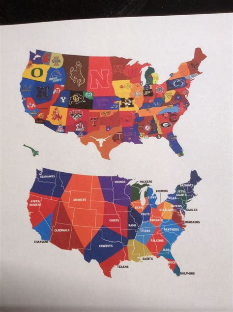 nfl usa map us map with nfl teams travel maps and major tourist