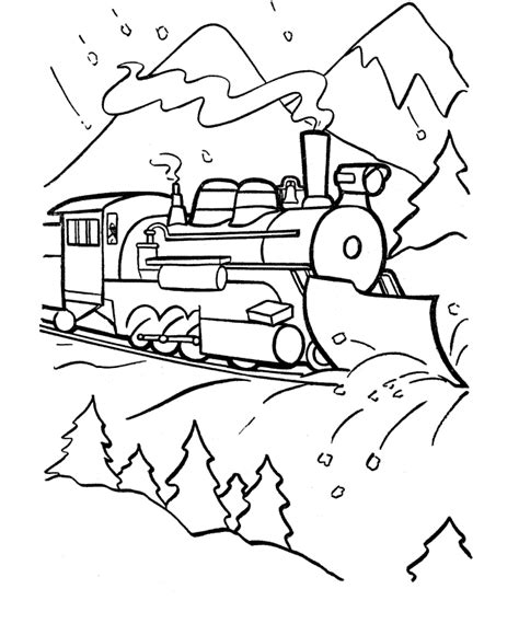free coloring pages of winter scenery