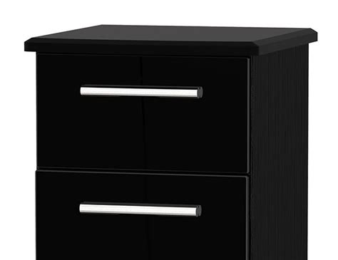 Black Narrow Chest Of Drawers by Black High Gloss 5 Drawer Narrow Chest