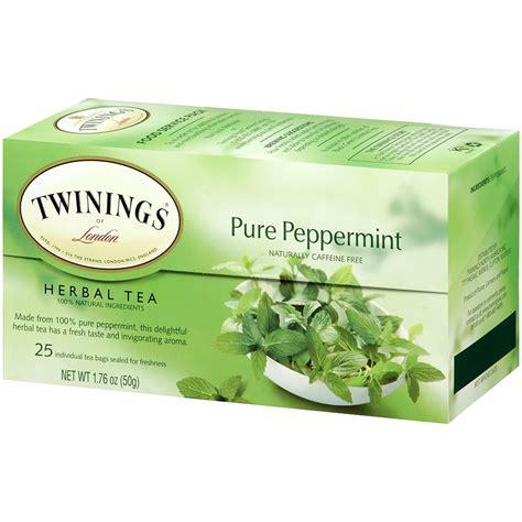 twinings herbal tea peppermint caffeine free 25