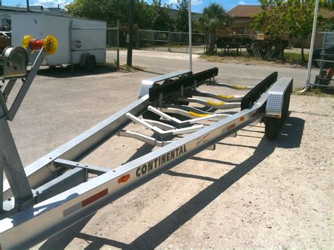 boat trailer triple axle used sold 2009 15klb continental triple axle trailer sold