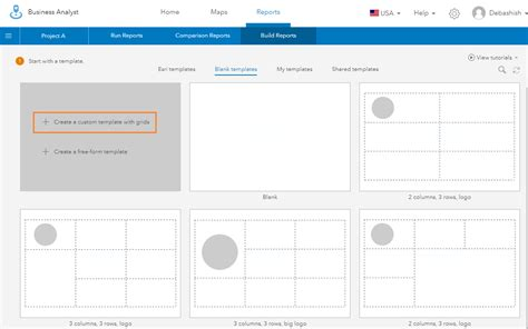 blank layout view arcgis building your own infographics template business analyst