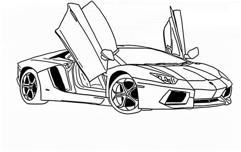 lamborghini drawing free coloring pages of how to draw a lamborghini