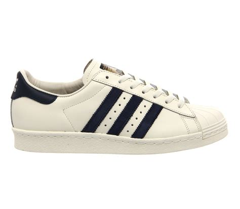 high quality adidas shoes on sale adidas superstar 80s dlx vintage white navy white