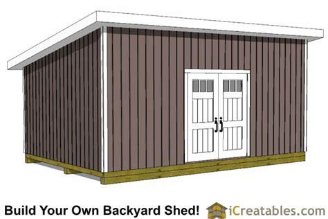 lean  shed plans easy  build large shed plans