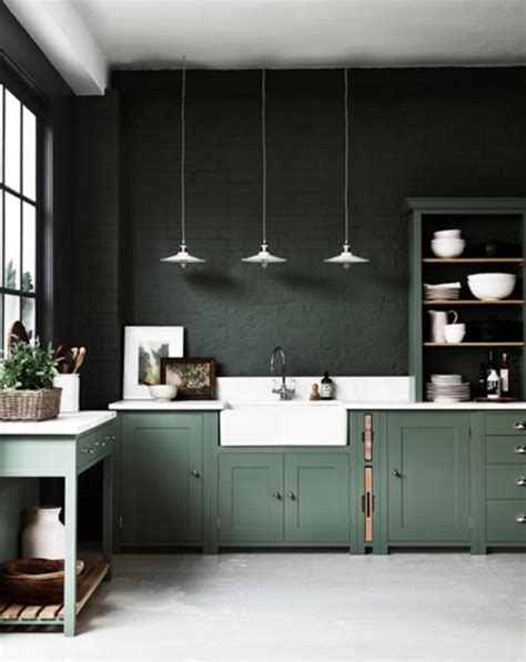 kitchens interiors best 25 green kitchen ideas on pinterest green kitchen