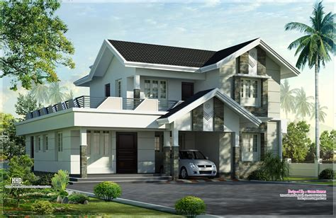 nice house plans 1975 sq feet nice home exterior design home kerala plans