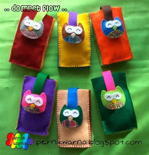 Dompet Koin Owl pernik warna dompet flow flanel owl