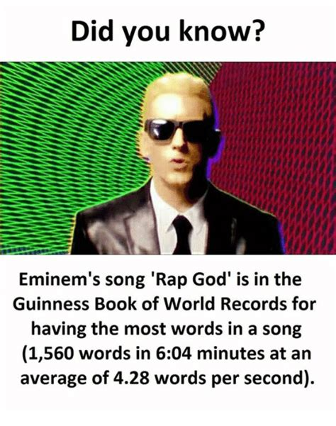 Rap God Meme - 25 best memes about guinness book of world records