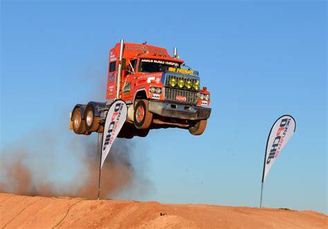 film semi australia semi truck jump prime mover www loveday4x4adventures com