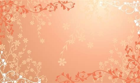 free background pattern undangan pernikahan free orange floral patterns vector titanui