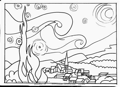 coloring pages classic art due ore di arte cezanne gauguin e van gogh modelli per