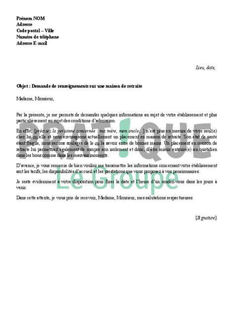 lettre gratuite de demande de retraite