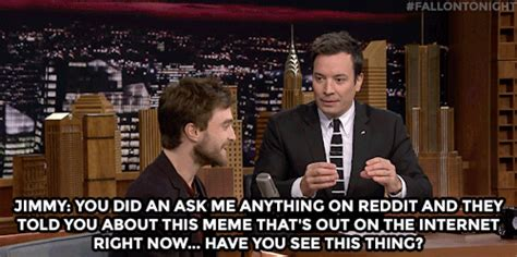 Daniel Radcliffe Meme - the tonight show starring jimmy fallon jimmy confronts