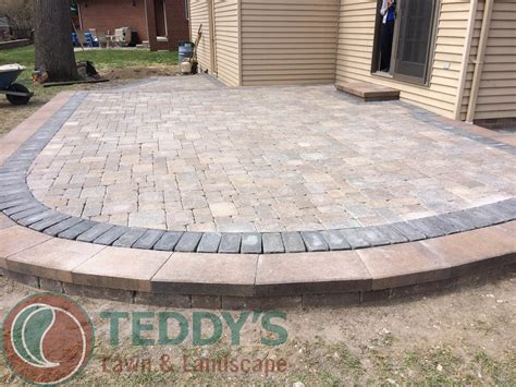 Paver Patio Install Brick Paver Patio Installation Birmingham Michigan