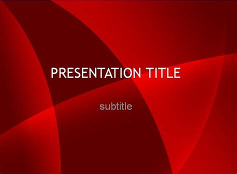 free red beautiful powerpoint template dynamic guru