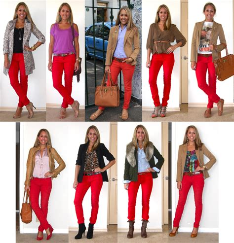 what goes with pink red pants outfit ideas car interior design