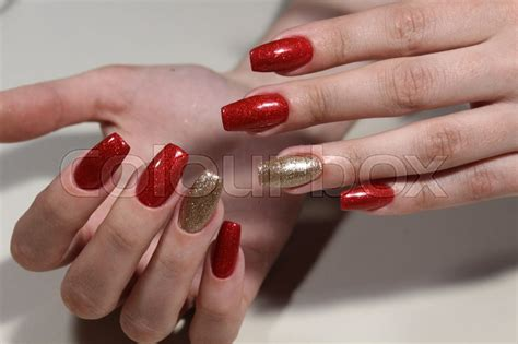 Mode Nagels by Nagel Wimper Mode Stockfoto Colourbox