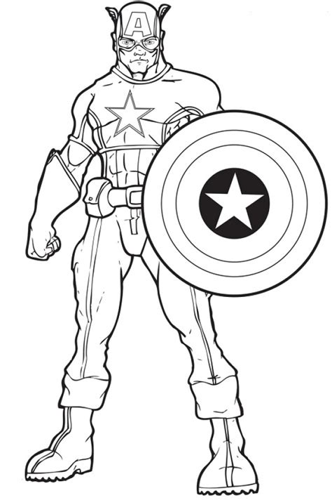 get this captain america coloring pages printable 47885