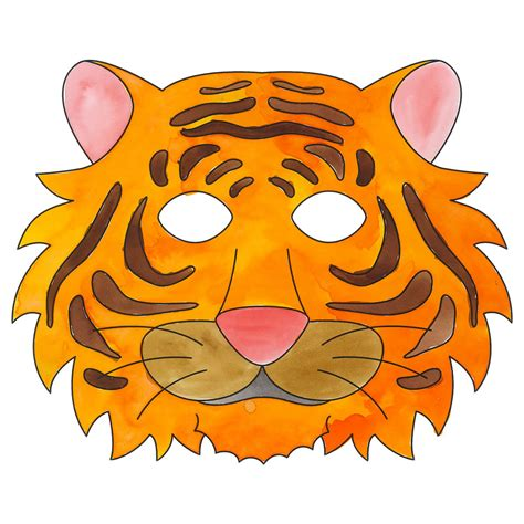 How To Make A Tiger Mask Out Of Paper - tiger mask cleverpatch