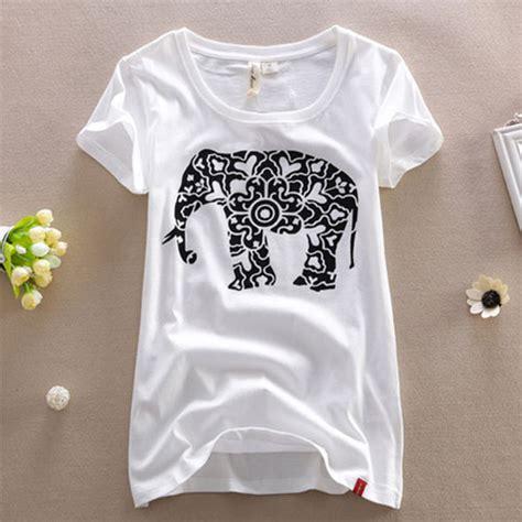 t shirt paper pattern paper cut elephant pattern short sleeve t shirt on luulla