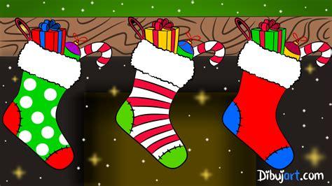 imagenes para colorear botas navideñas c 243 mo dibujar unas botas de navidad paso a paso dibujart com