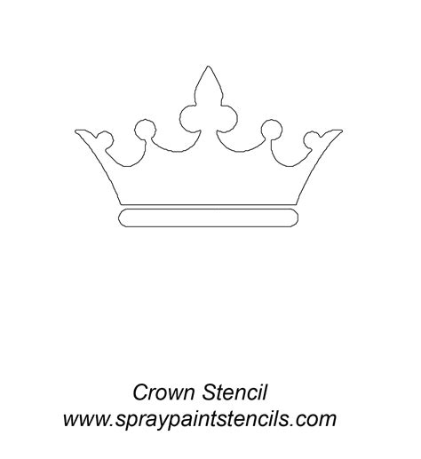 printable crown stencil saved from