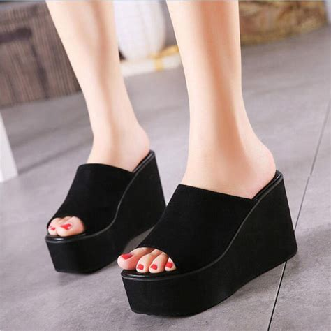 new 2016 wedges sandals suede high heels
