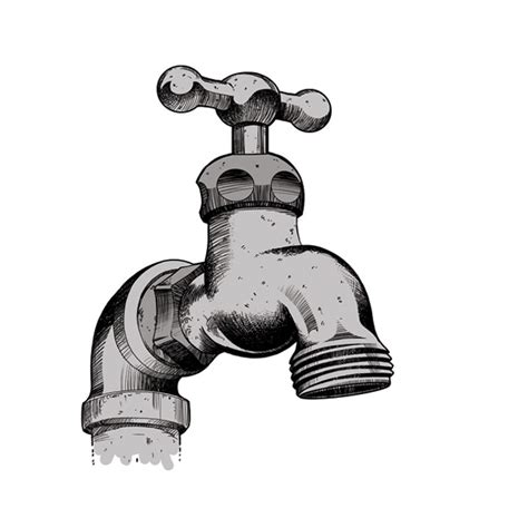 Water Faucet Drawing by Sink Faucet Drawing