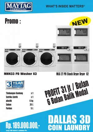 Paket Usaha Kilo Laundry Maytag Dallas distributor mesin laundry mesin laundry maytag coin laundry